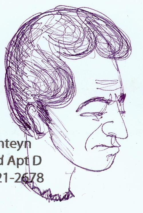 mama man's head sketch